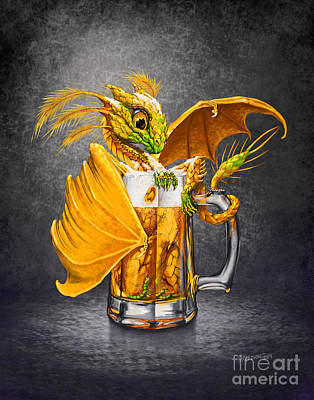 Hop Digital Art - Beer Dragon by Stanley Morrison