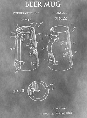 Stein Mixed Media - Beer Mug Patent by Dan Sproul