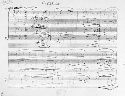 Beethoven Manuscript, 1825 Print by Granger