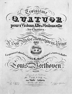 Beethoven Opus, 1827 Print by Granger