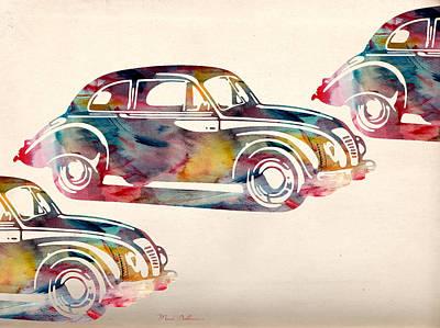 Beetle Digital Art - Beetle Car by Mark Ashkenazi