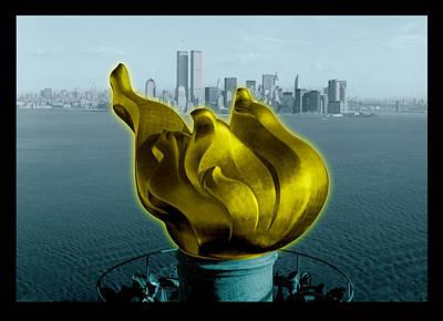 Nyc Digital Art - Before 9.11 by Gary Grayson