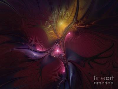 Graceful Digital Art - Before Dawn-fractal Art by Karin Kuhlmann