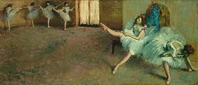 Rehearsal Painting - Before The Ballet by Edgar Degas