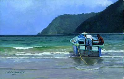 The Catch Painting - Before The Catch by Colin Bootman