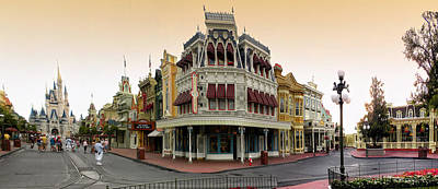 Merchandise Mixed Media - Before The Gates Open Magic Kingdom Main Street. by Thomas Woolworth