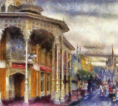 Before The Gates Open Magic Kingdom Wdw Photo Art Print by Thomas Woolworth