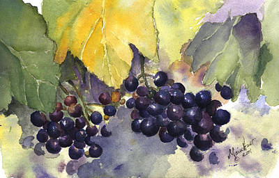 Napa Valley Painting - Before The Harvest by Maria Hunt