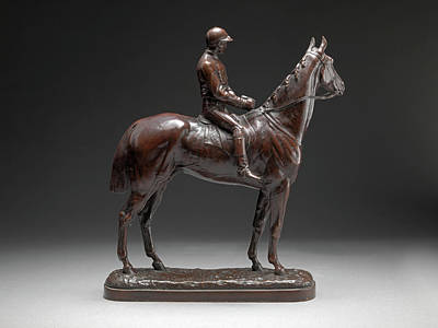 Bronze Horse Drawing - Before The Race Inscribed On Back Of Base Elkington 808 by Litz Collection