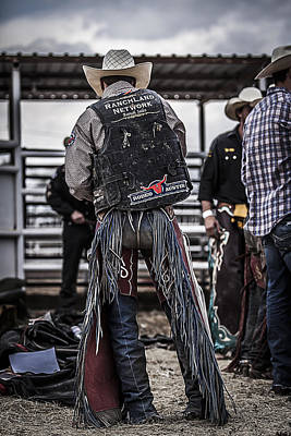Bull Riders Photograph - Before The Ride by Amber Kresge