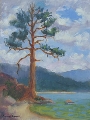 Iconic Painting - Before The Storm Bliss State Park  by Karin  Leonard