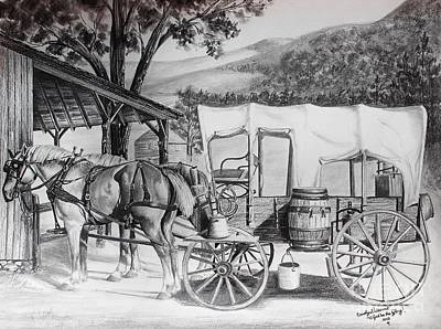 Draft Horses Drawing - Beginning The Journey by Carolyn Valcourt