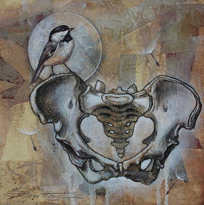 Chickadee Mixed Media - Beginnings by Sheri Howe