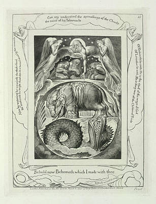 Blake Photograph - Behemoth And The Leviathan by British Library