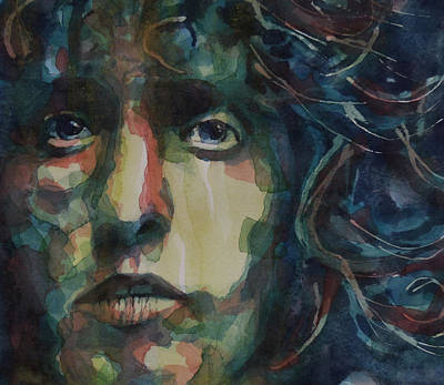 Rock Poster Painting - Behind Blue Eyes by Paul Lovering