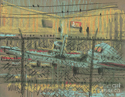 Fence Drawing - Behind The Fence by Donald Maier