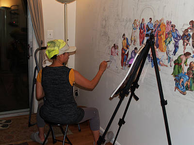 Photograph - Behind The Scenes Mural 5 by Becky Kim