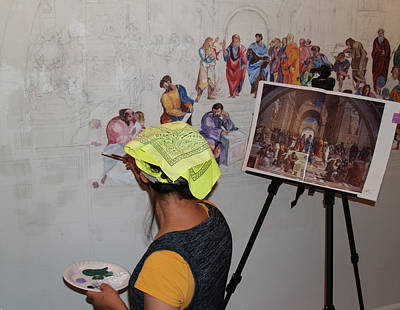 Becky Kim Artist Photograph - Behind The Scenes Mural 6 by Becky Kim