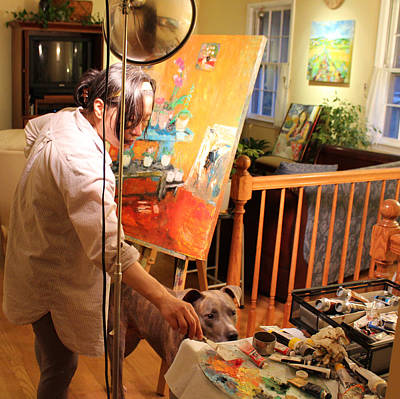 Becky Kim Artist Photograph - Behind The Scenes Quiet Time Corner 2 by Becky Kim