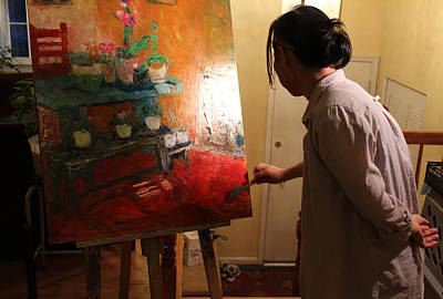 Becky Kim Artist Photograph - Behind The Scenes Quiet Time Corner 3 by Becky Kim