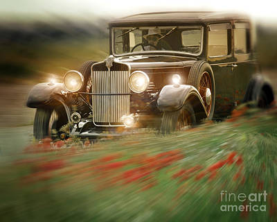 Behind The Wheel Print by Edmund Nagele