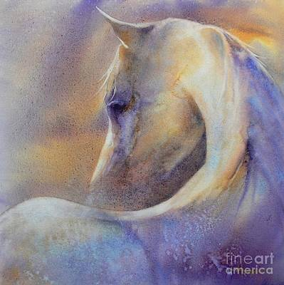 Horse Watercolor Painting - Behold by Robert Hooper