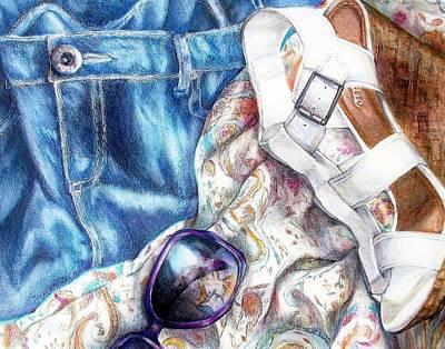 Being A Girl Print by Shana Rowe Jackson