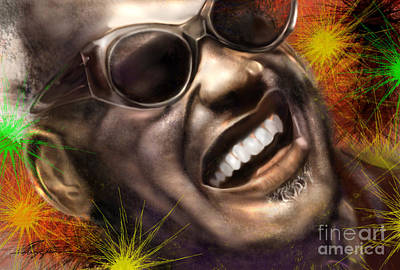Being Ray Charles1 Print by Reggie Duffie