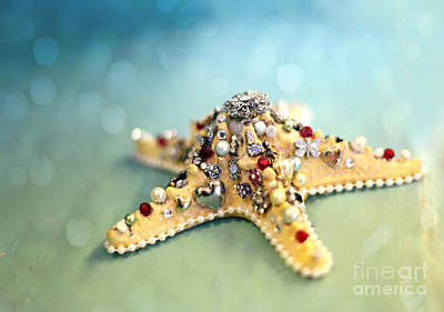 Bejeweled Starfish Print by Sylvia Cook