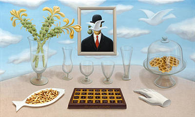 Rene Magritte Painting - Belgian Clarity With Slight Inclusions by Boris Giulian