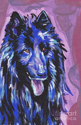 Belgian Sheepdog Painting - Belgium Born by Lea S