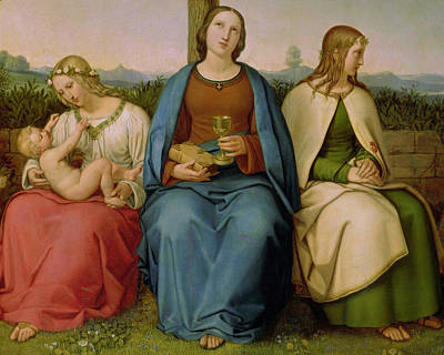 Faith Hope And Love Painting - Belief Hope And Love by Heinrich Maria von Hess