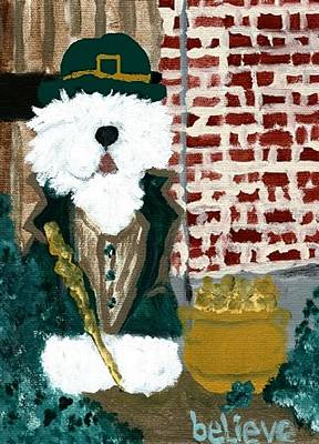 Sheepdog Mixed Media - Believe by Cathy Howard