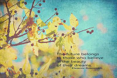 Believe In Dreams Print by Toni Hopper