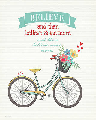 Inspirational Painting - Believe Some More by Jo Moulton