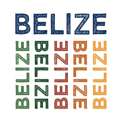 Belize Digital Art - Belize Cute Colorful by Flo Karp
