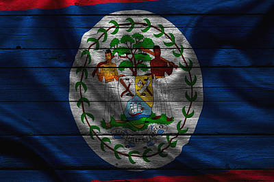 Flag Photograph - Belize by Joe Hamilton