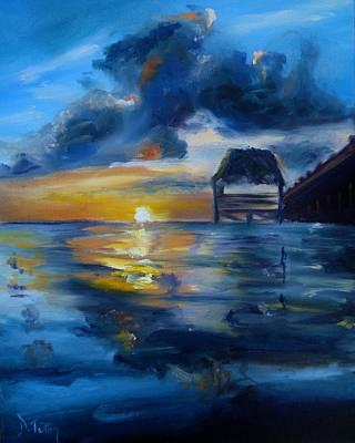 Belizean Sunrise Print by Donna Tuten