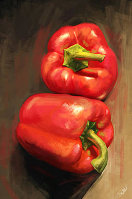 Pepper Mixed Media - Bell Peppers by Steve Goad