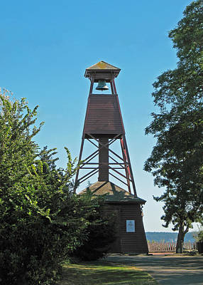 Bell Tower In Port Townsend  Print by Connie Fox