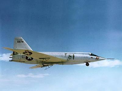 Highspeed Photograph - Bell X-2 Starbuster Supersonic Test Plane by Nasa