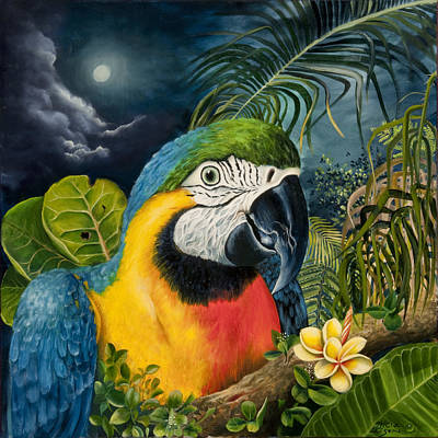 Blue And Gold Macaw Painting - Bella Macaw by Tricia Eisen