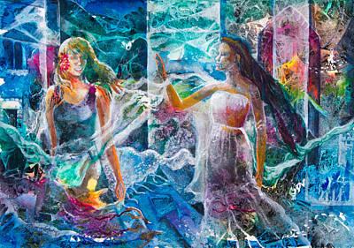 Mystical Women Mixed Media - Belladonnas by Patricia Allingham Carlson