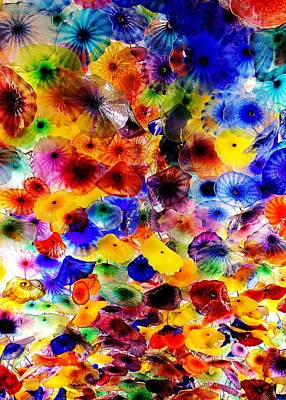 Bellagio Garden Of Glass Print by Benjamin Yeager