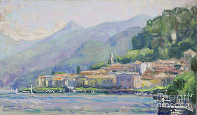 Lake Como Painting - Bellagio Serenade by Jerry Fresia