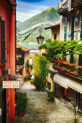 Northern Italy Photograph - Bellagio Street Charm by George Oze