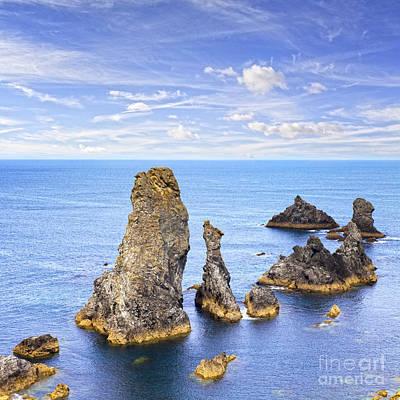 Les Photograph - Belle Ile Brittany France Les Aiguilles De Port Coton by Colin and Linda McKie