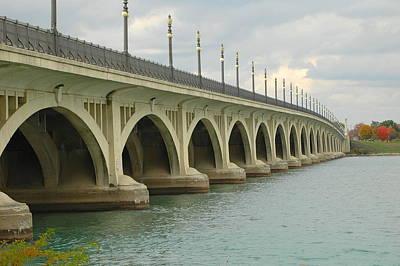 Autumn Photograph - Belle Isle Bridge 2 by Gary Marx