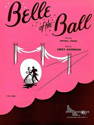 Belle Of The Ball Print by Mel Thompson