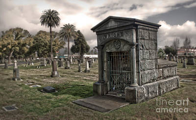 Bellevue Cemetery Print by Gregory Dyer